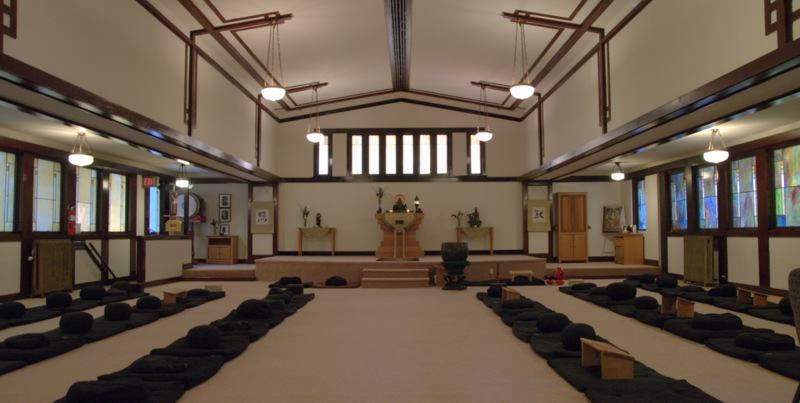 Buddhist meditation hall