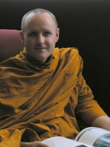 Ajahn Sudanto reading book